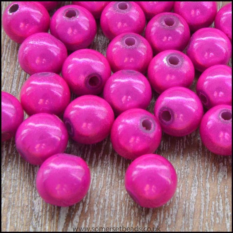 8mm Pink Acrylic 3D Miracle Beads