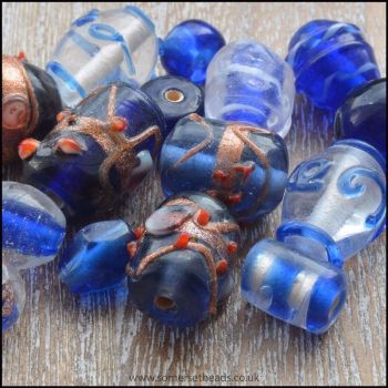 Blue Indian Glass Bead Mix