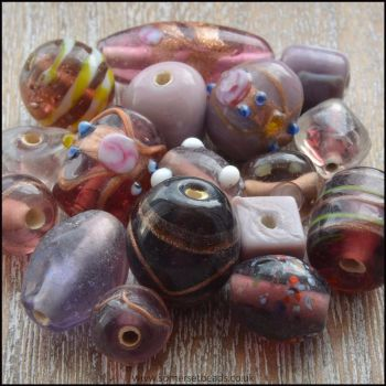 Purple Indian Glass Bead Mix