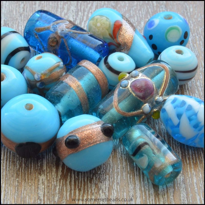 Turquoise Indian Glass Bead Mix