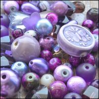 Purple Bead Mix - 100g