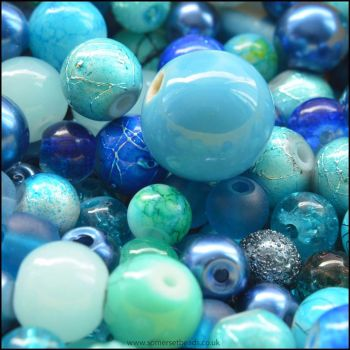 Blue Bead Mix 100g