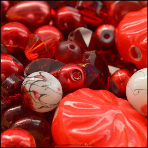 Red Bead Mix -100g