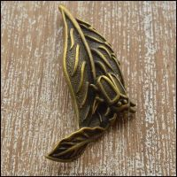 Bronze Leaf with Bug Charm