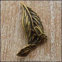 Bronze Leaf with Bug Charm