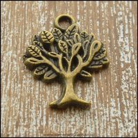 Bronze Tone Tree Charms