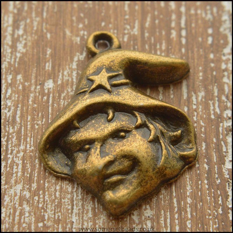 Bronze Witch Charm