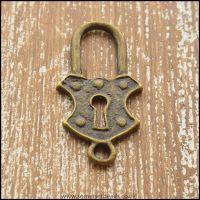 Bronze  Lock Charm