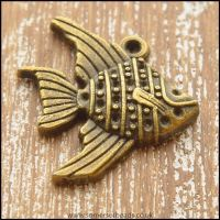 Bronze Tone Tropical Fish Charm