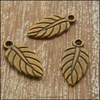 Bronze Leaf Charms