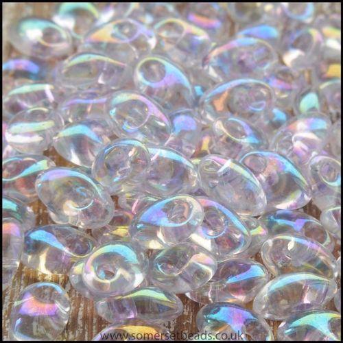 Miyuki Long Magatamas Crystal Tr Light Pink Lined Luster Iris - LMA-2142B