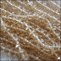 Champagne Faceted Glass Crystal Rondelle Beads 8mm x 6mm