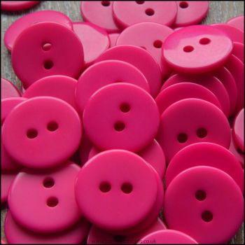 15mm Bright Pink Resin Buttons