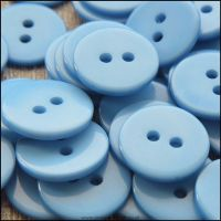 Resin Buttons, 15mm, Pale Blue