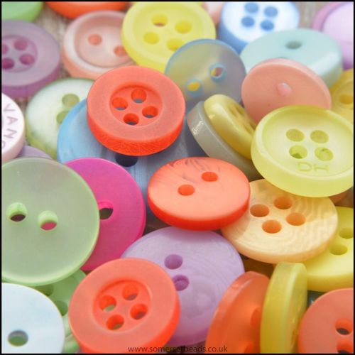 Small Mixed Colour Buttons