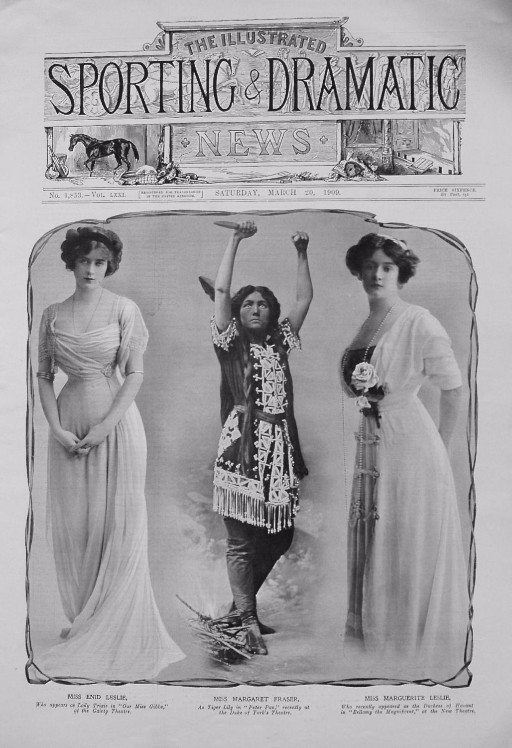 Actresses from the Stage. March 20th 1909