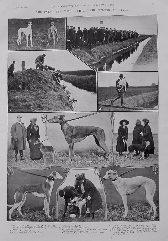 Farcet Fen Club's Barbican Cup Meeting at Wryde. 1909