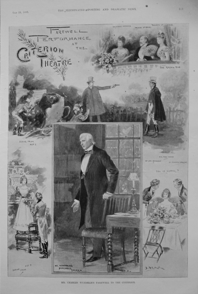 Farewell Performance at the Criterion Theatre. (Mr. Charles Wyndham). 1899