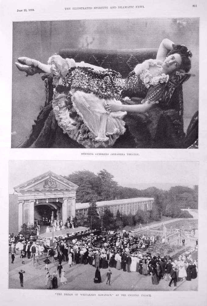"""""""The Dream of Whitaker's Almanack"""" at the Crystal Palace. 1899"""