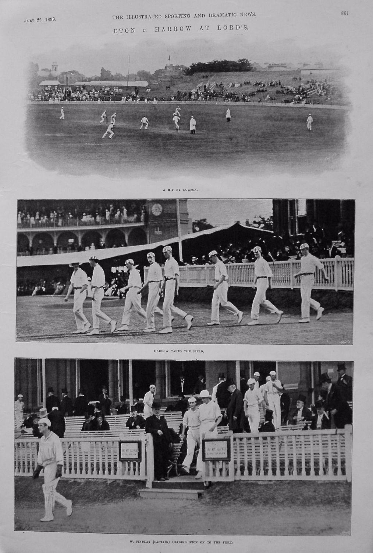 Eton v. Harrow at Lord's. (Cricket) 1899