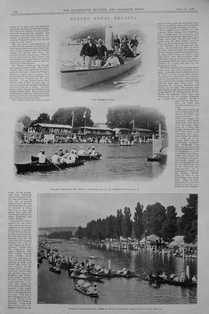 Henley Royal Regatta. 1899