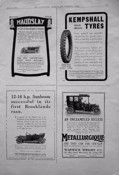 Motoring Adverts. April 16th 1910.