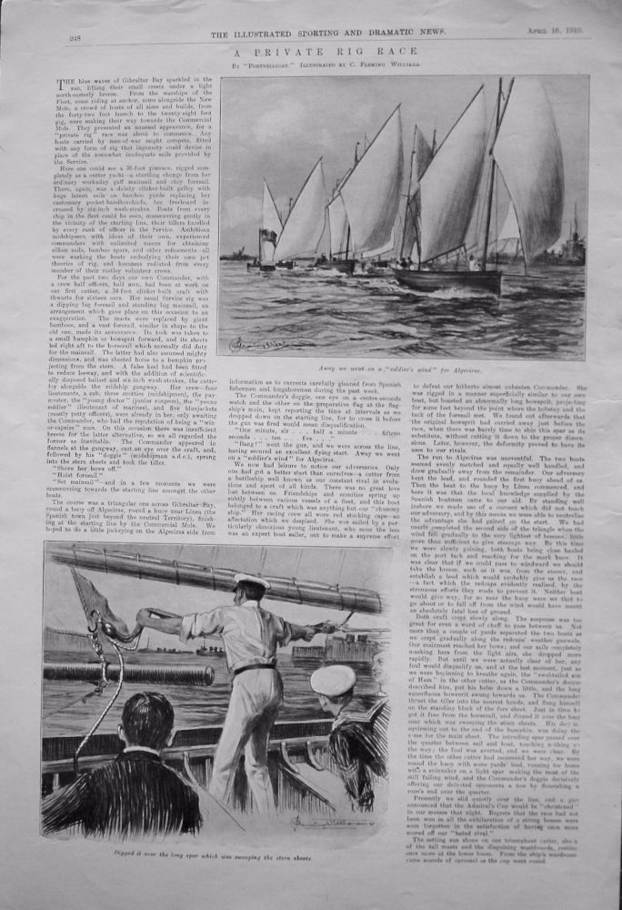 "A Private Rig Race. By ""Portnelligan."" 1910"