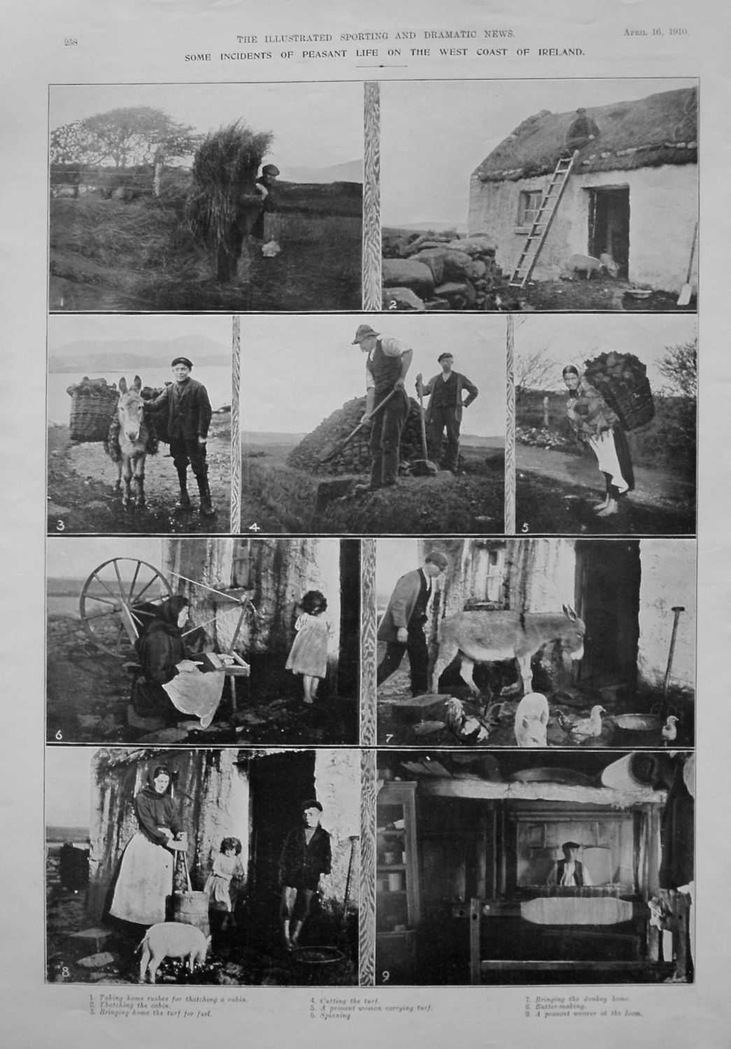 Incidents of Peasant Life on the West Coast of Ireland. 1910