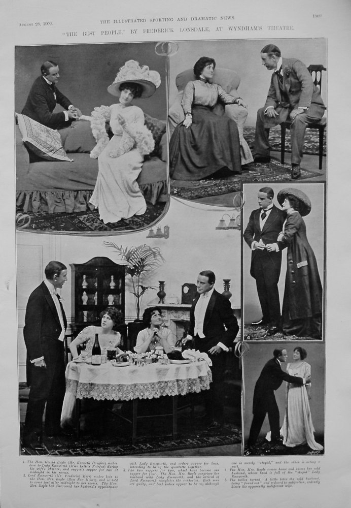 """""""The Best People,"""" by Frederick Lonsdale, at Wyndham's Theatre. 1909"""