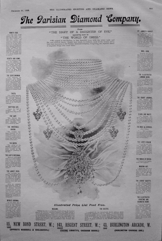 The Parisian Diamond Company. December 30th 1899.