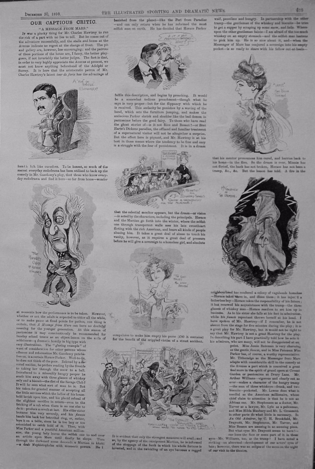 Our Captious Critic. December 30th 1899