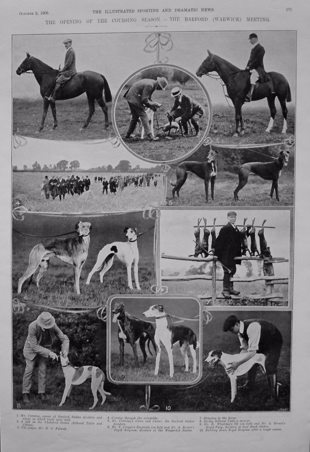 Opening of the Coursing Season. - The Barford (Warwick) Meeting. 1909