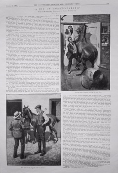 """A Bit of Horse-Dealing."" Written by J.R. de Havilland. 1909"