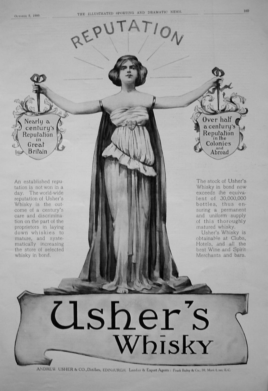 Usher's Whisky. 1909
