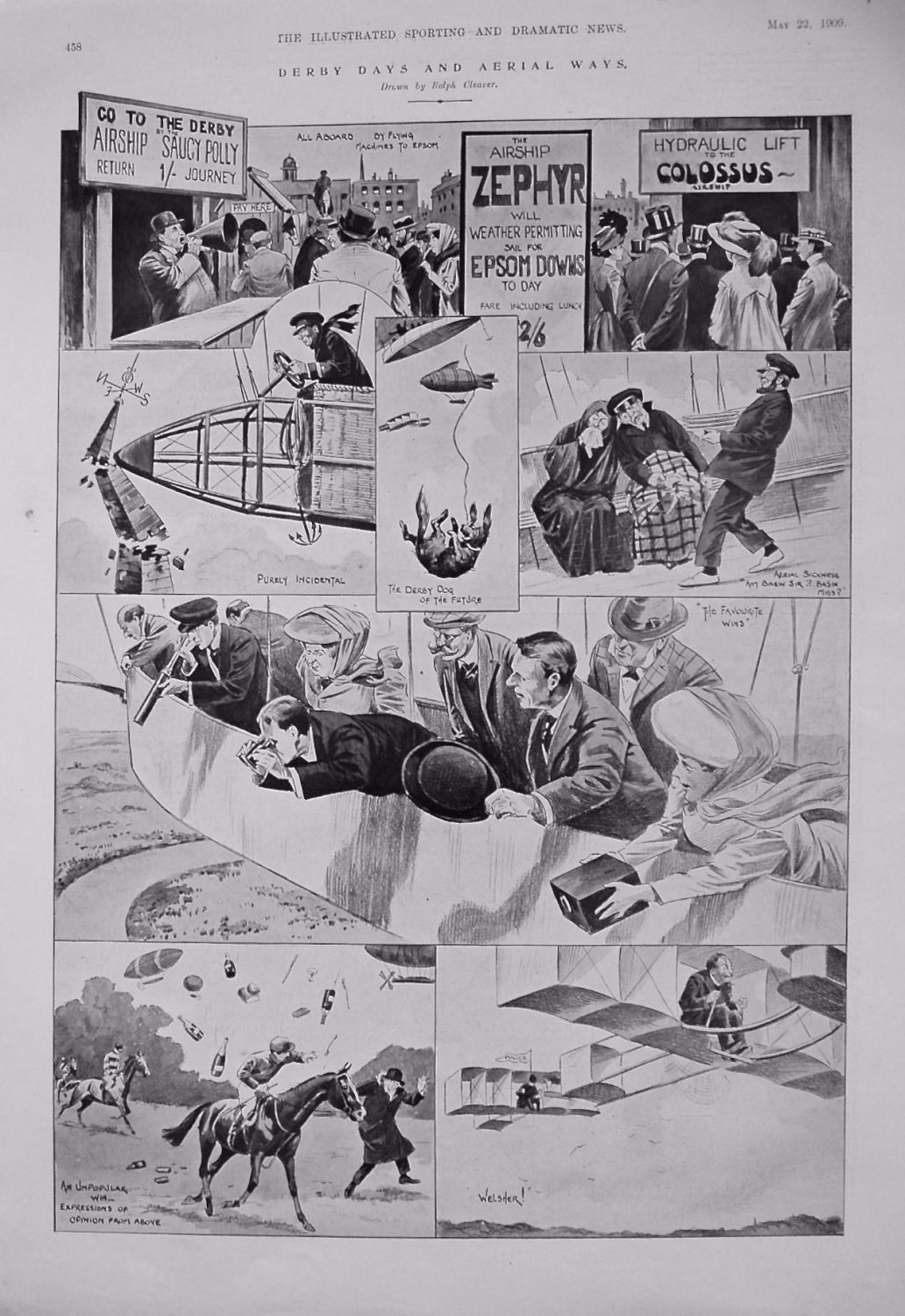 Derby Day and Aerial Ways. 1909