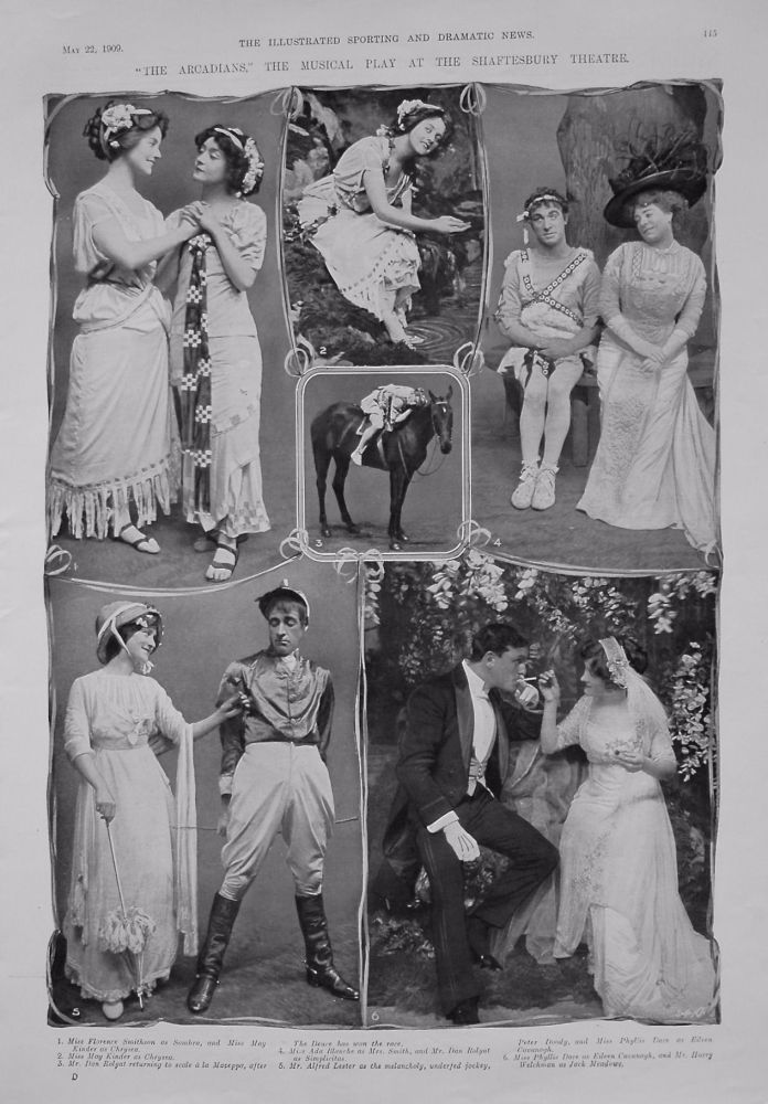 """""""The Arcadians,"""" The Musical Play at the Shaftesbury Theatre. 1909"""