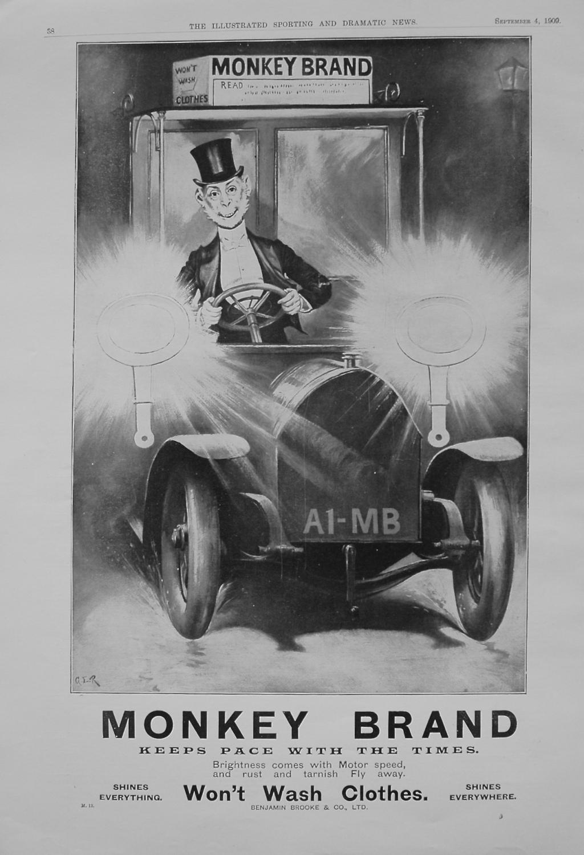 Monkey Brand. September 1909.