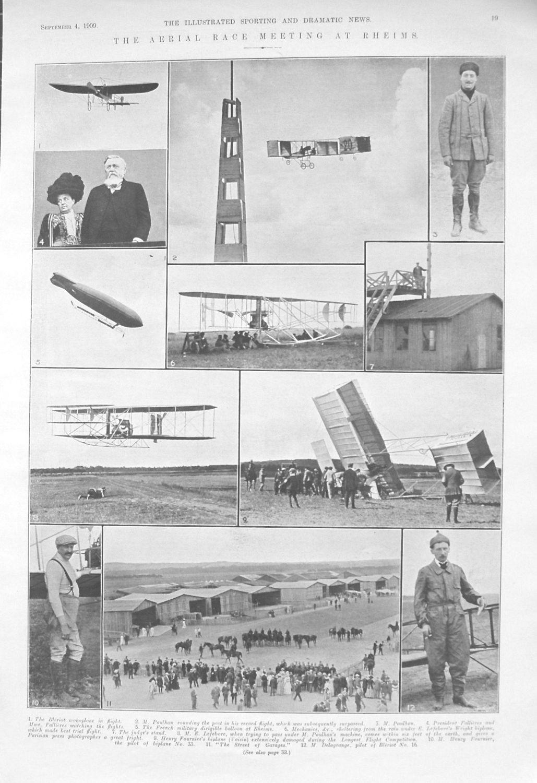 Aerial Race Meeting At Rheims. 1909