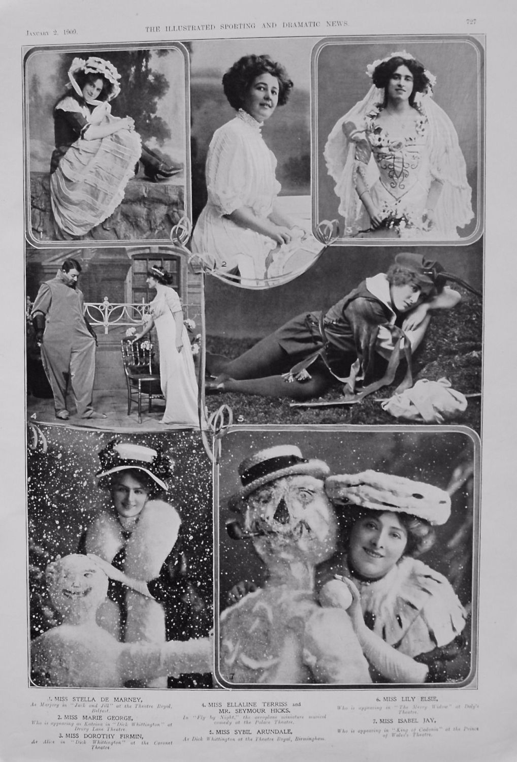 Actresses from the Stage. January 2nd 1909.