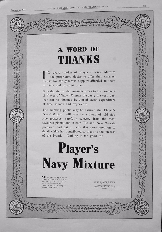 Player's Navy Mixture. (Tobacco) 1909