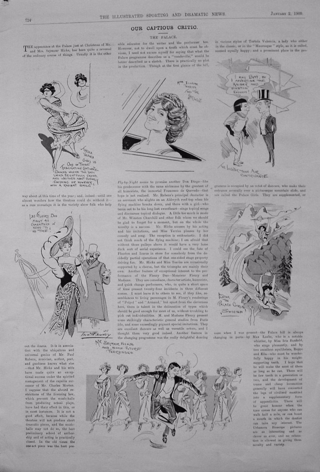 Our Captious Critic. January 2nd 1909.