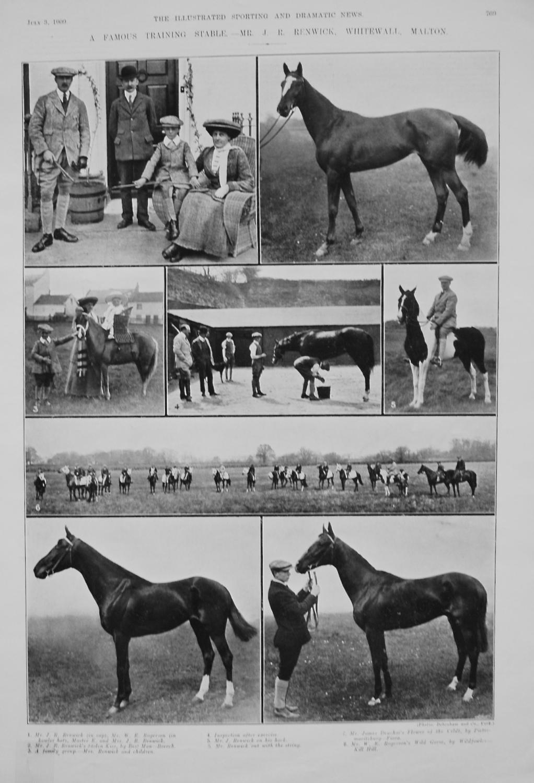 A Famous Training Stable - Mr. J. R. Renwick, Whitewall, Malton. 1909