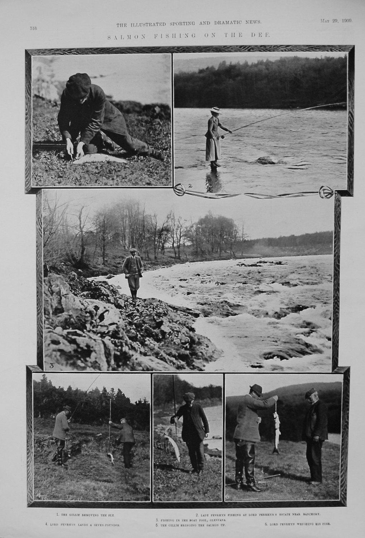 Salmon Fishing on the Dee. 1909