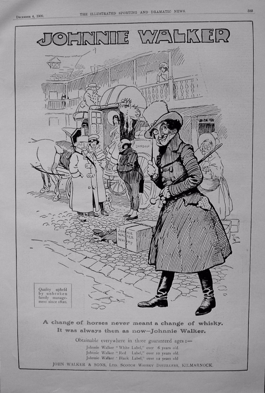 Johnnie Walker. 1909