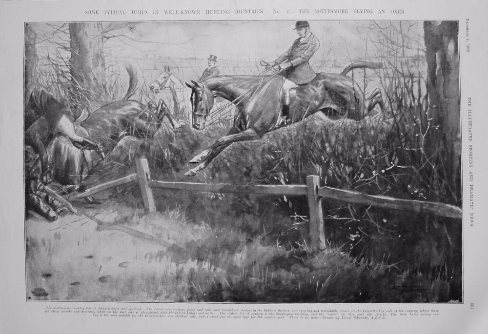 Some Typical Jumps In Well-Known Hunting Countries. - No.2 - The Cottesmore