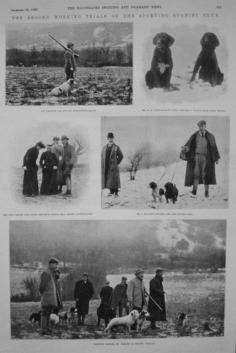 Second Working Trials of the Sporting Spaniel Club. 1899