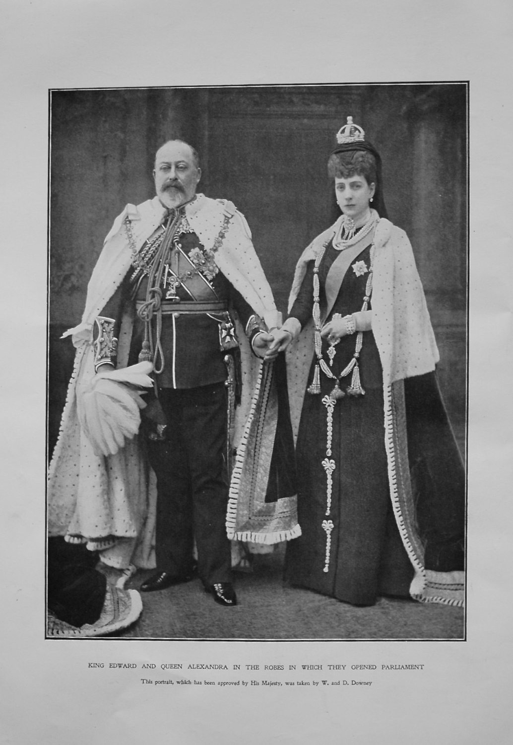 King Edward and Queen Alexandra in the Robes in which they Opened Parliamen