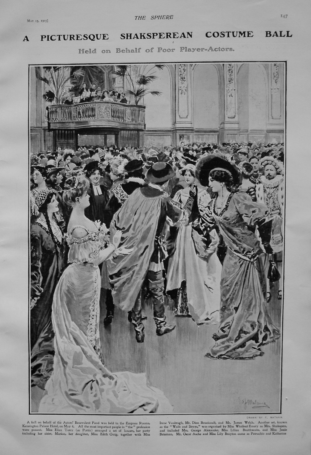A Picturesque Shaksperean Costume Ball. 1905