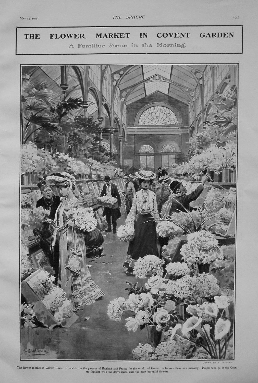 Flower Market in Covent Garden. 1905