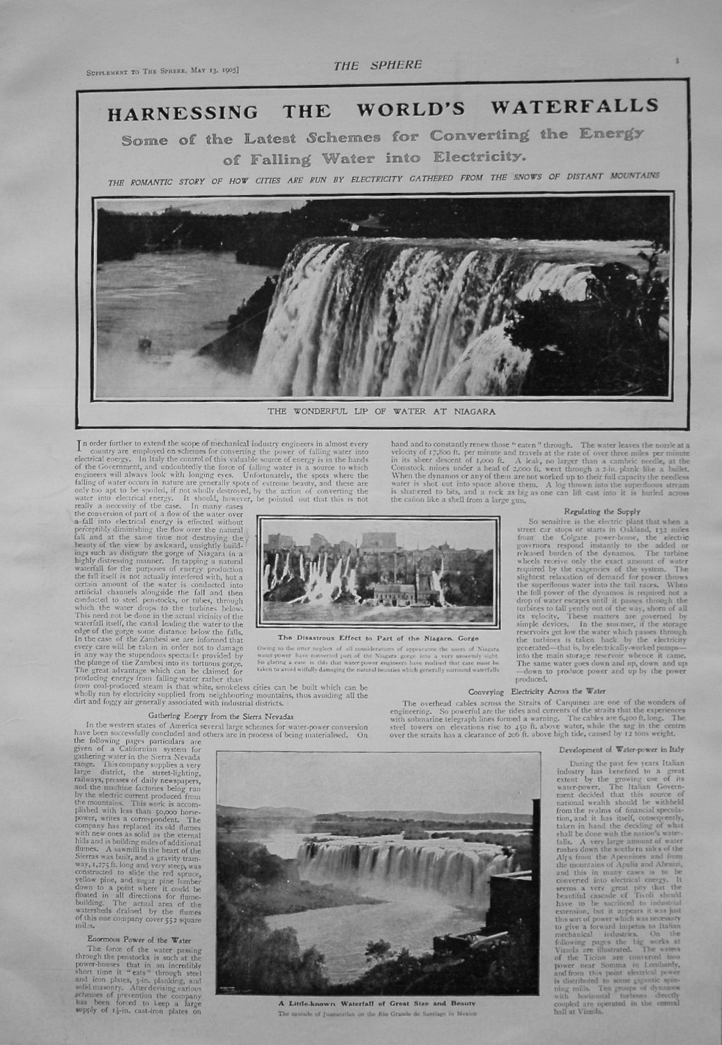Harnessing The World's Waterfalls. 1905.
